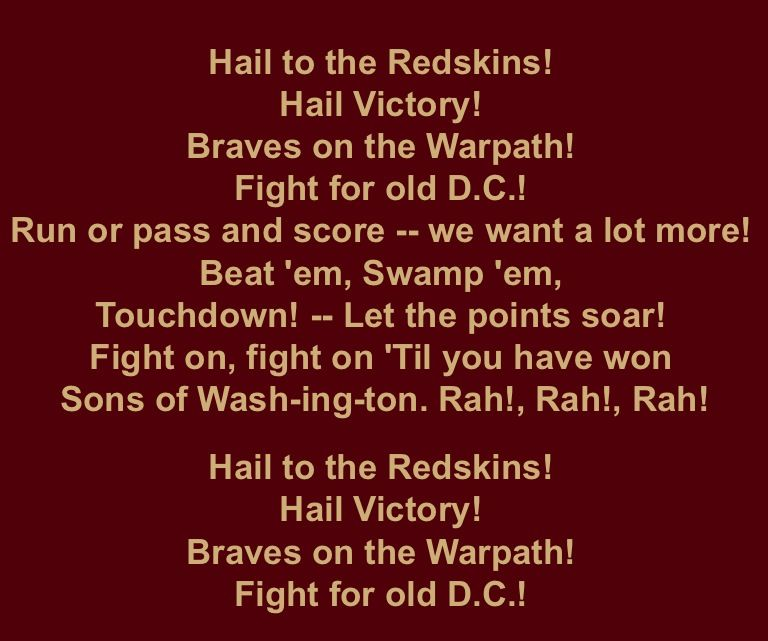 hail to the redskins song download