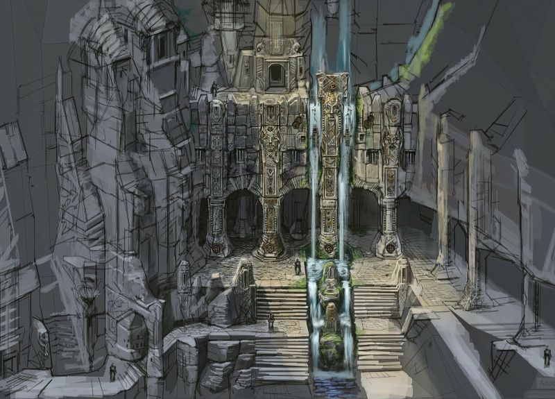 fantasy art concept art the elder scrolls v skyrim dwemer ruins markhart 1600x1150 wallpaper_www.wallpaperhi.com_37.jpg (800×575)