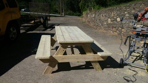 Tremendous Six Foot Pressure Treated Picnic Table Rounded Edges End Evergreenethics Interior Chair Design Evergreenethicsorg