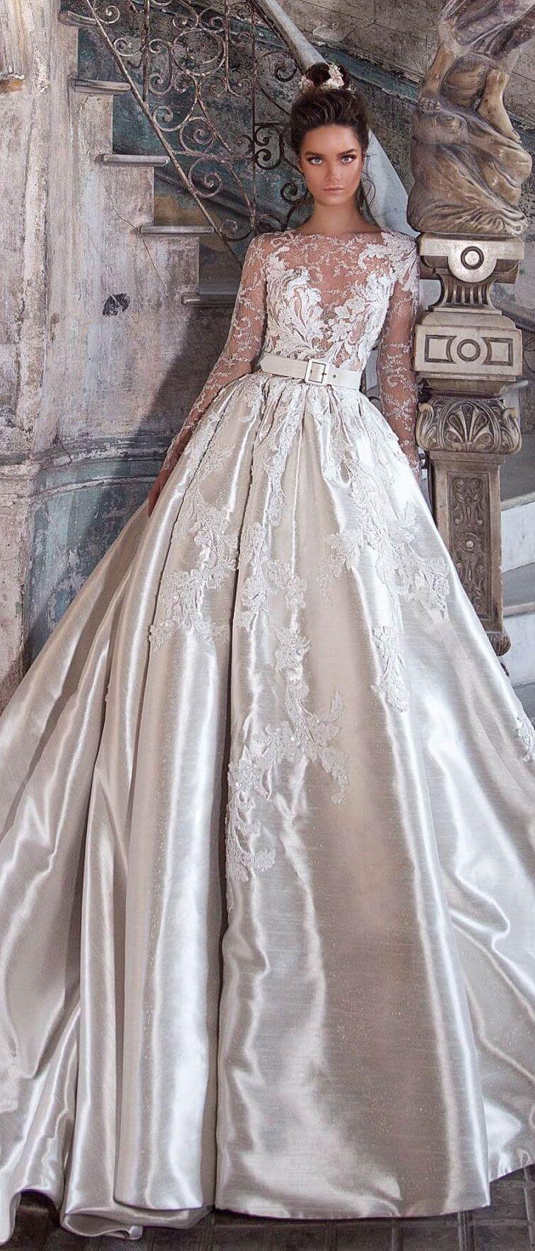 Wedding dress inspiration promessa pinterest illusion neckline
