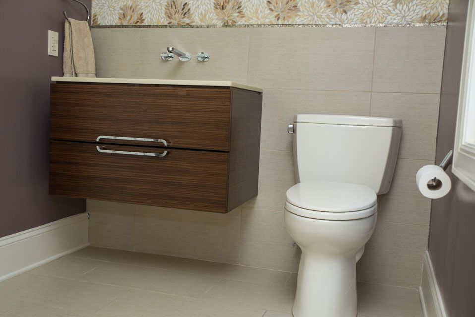 Powder Room Bathroom Remodel in Rochester, NY   Powder ...