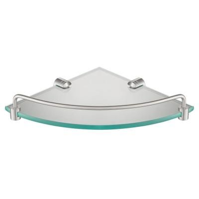 Kraus Elie 9 In Corner Bathroom Shelf In Brushed Nickel