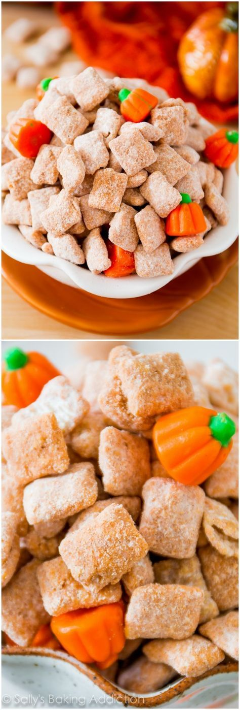 Puppy chow snack mix gets a festive twist with pumpkin