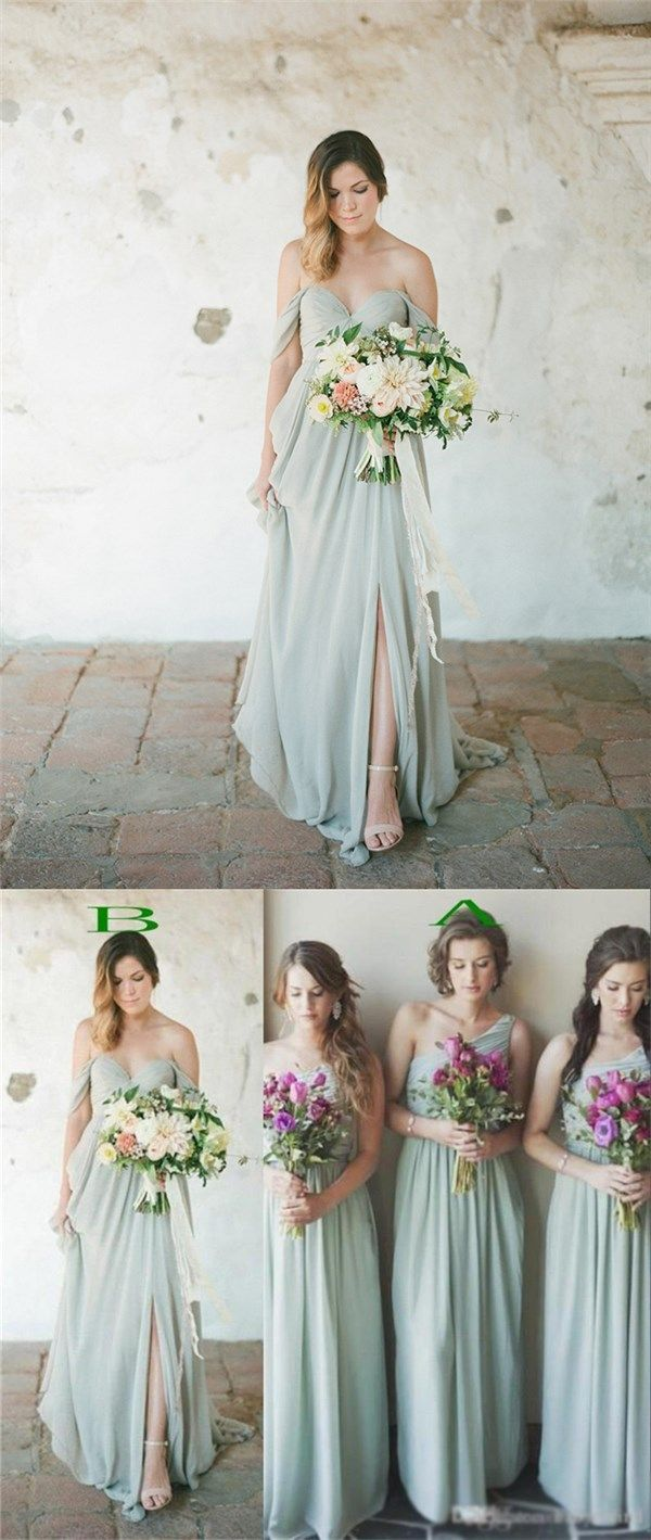 Green bridesmaid dresses off shoulder bridesmaid dresses one