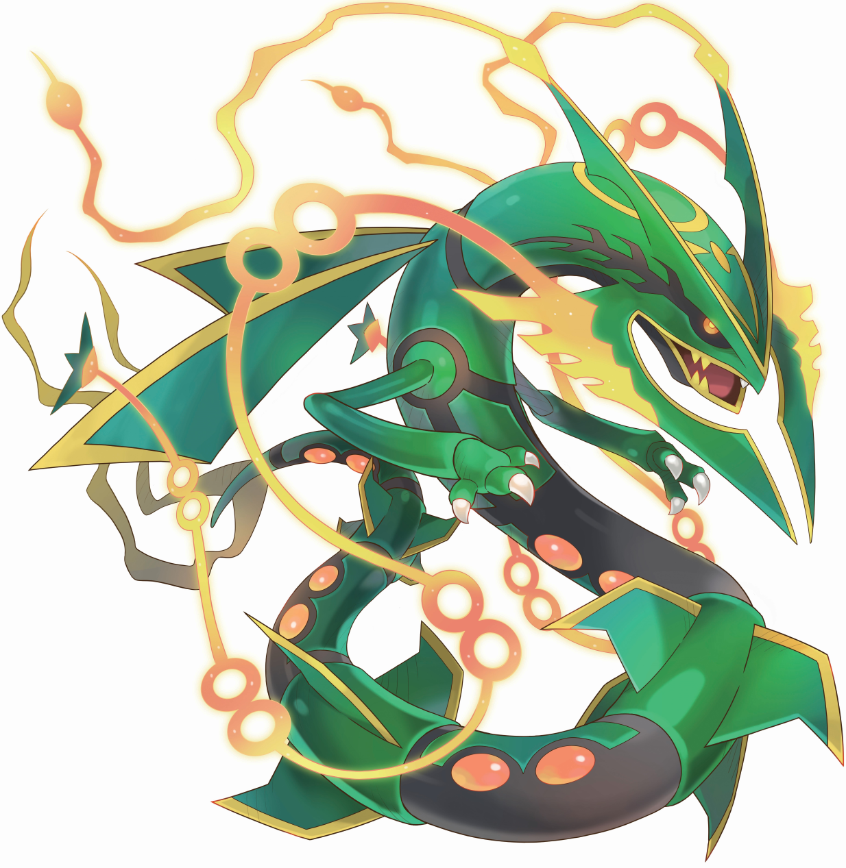 mega rayquaza pokemon mega evolution pinterest
