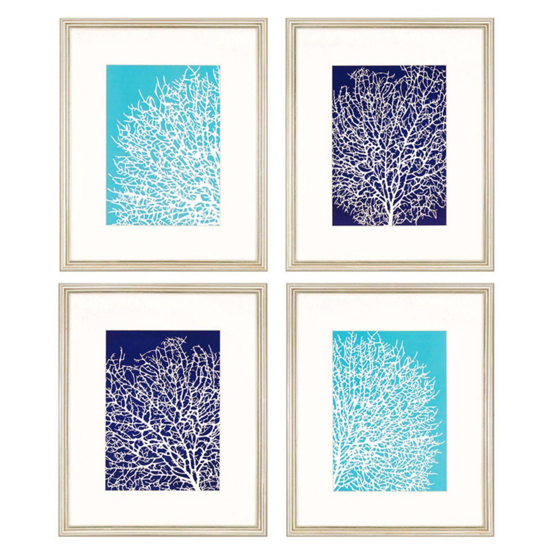 Paragon coral framed wall art set of wall art sets