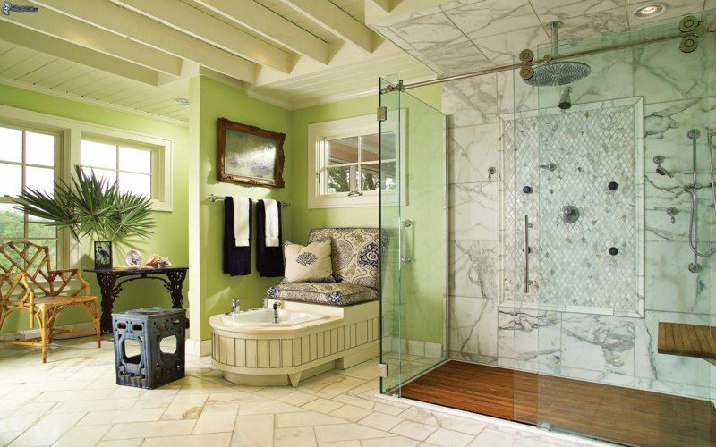 Salle de bain beige - idées de carrelage, meubles et déco Babies - salle de bains beige