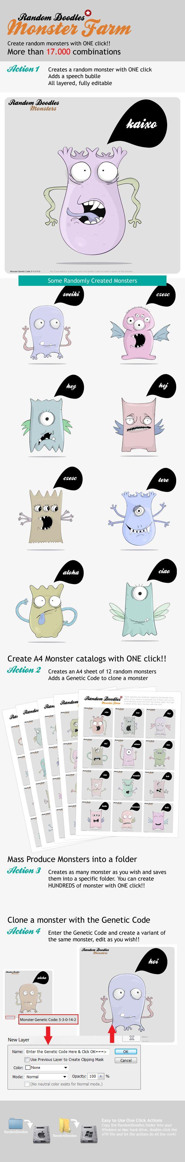 MonsterFarm Random Doodle Generator Doodles,