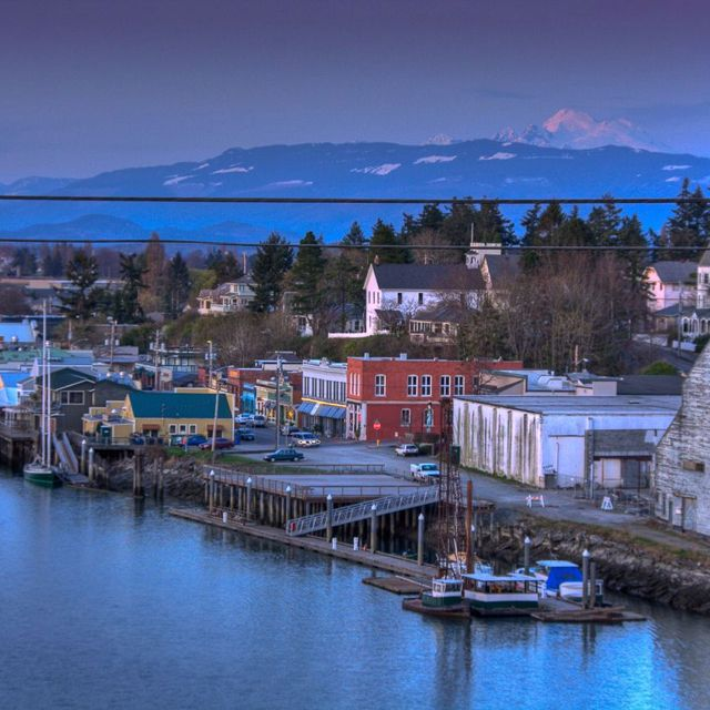 La Conner Wa With Mt Baker In The Background I Love This Town I