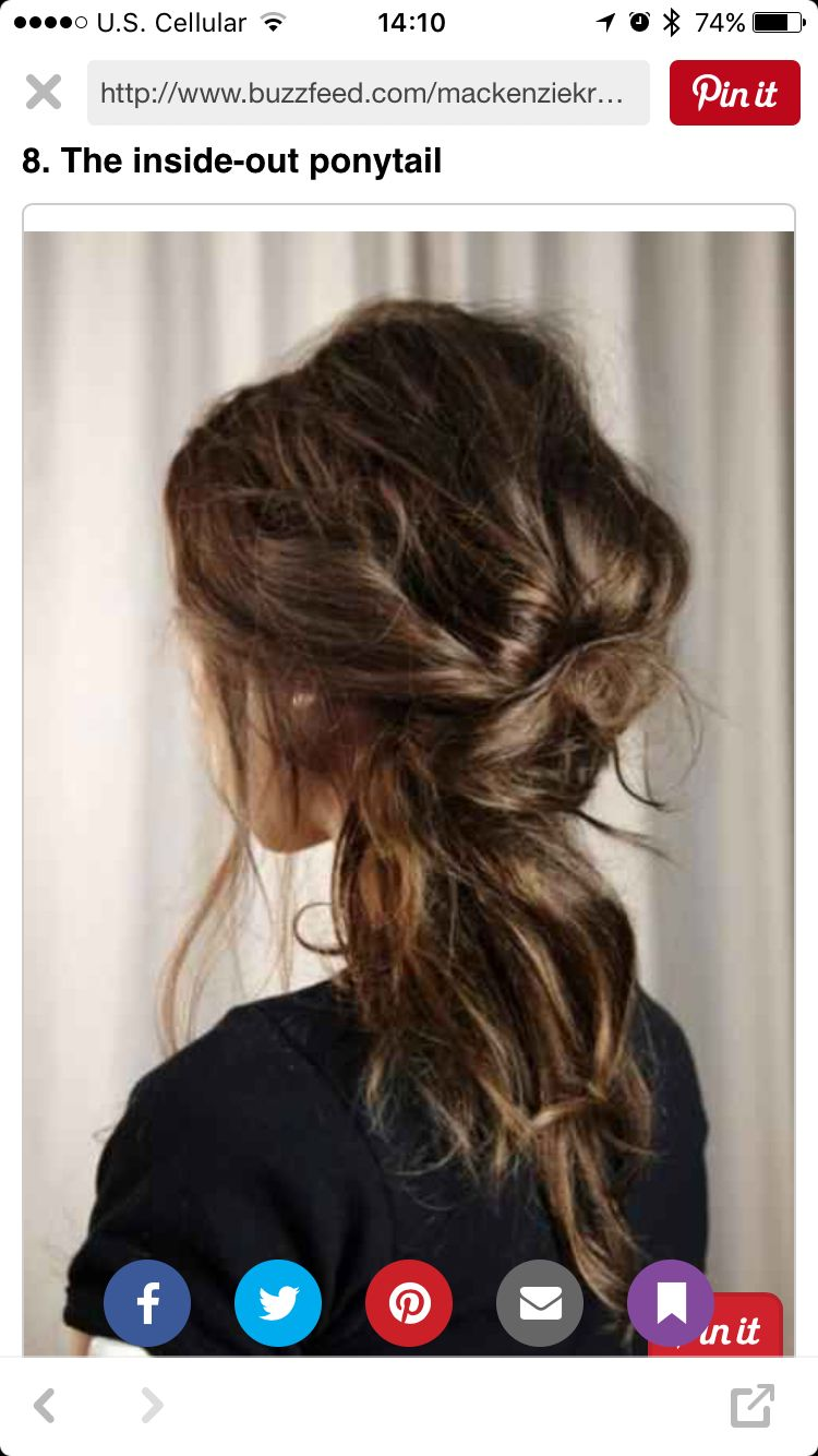 The inside out pony tail wedding makeup pinterest hair style