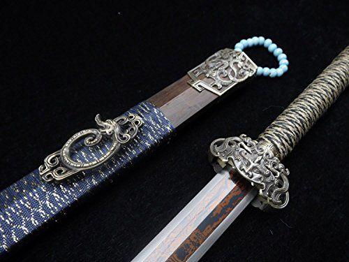 "Longquan sword/Chinese sword/Folding pattern steel dual-slot blade/Ormosia henryi scabbard/Alloy fittings/Length 39"" longquan sword http://www.amazon.com/dp/B00ZLOGQM6/ref=cm_sw_r_pi_dp_.BeFvb1Z08VCE"