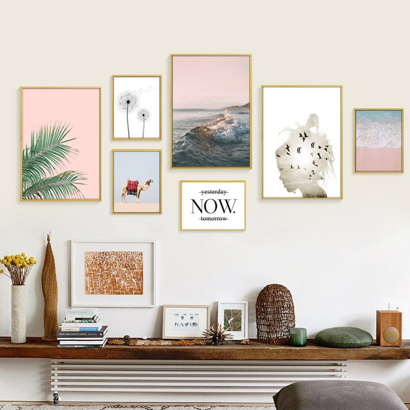 Cheap Picture For Living Room Buy Quality Wall Pictures Directly From China Posters And Prints Suppli Wall Art Living Room Beach Wall Art Wall Canvas Painting