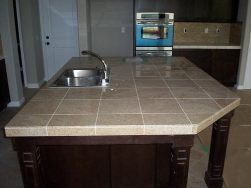 "Kitchen Tiles Countertops 12""x12"" granite tile kitchen countertop. http://www"
