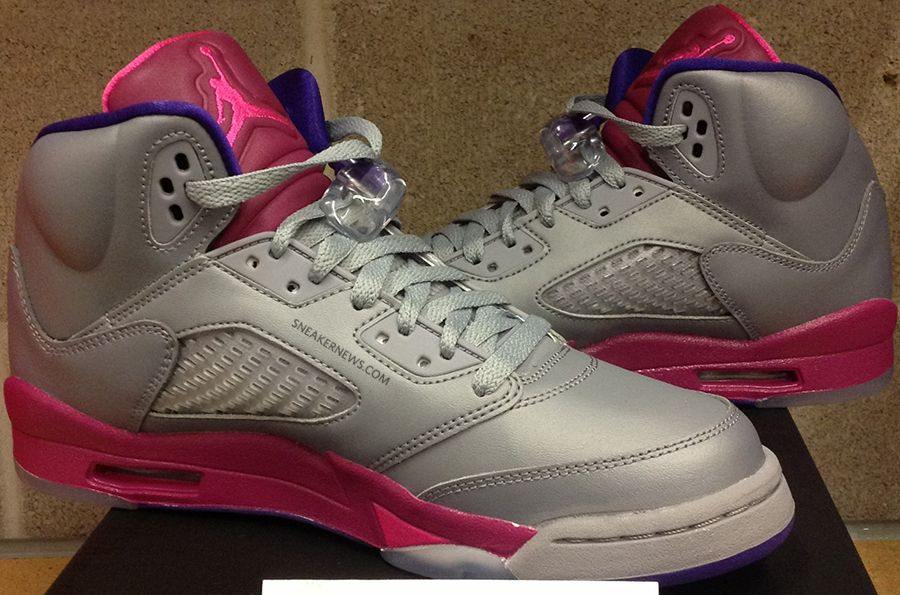 Air Jordan 5 Gs Rétro - Gris Ciment / Jeux Flash Rose Footlocker réduction Finishline Nice cGk5KYyMV
