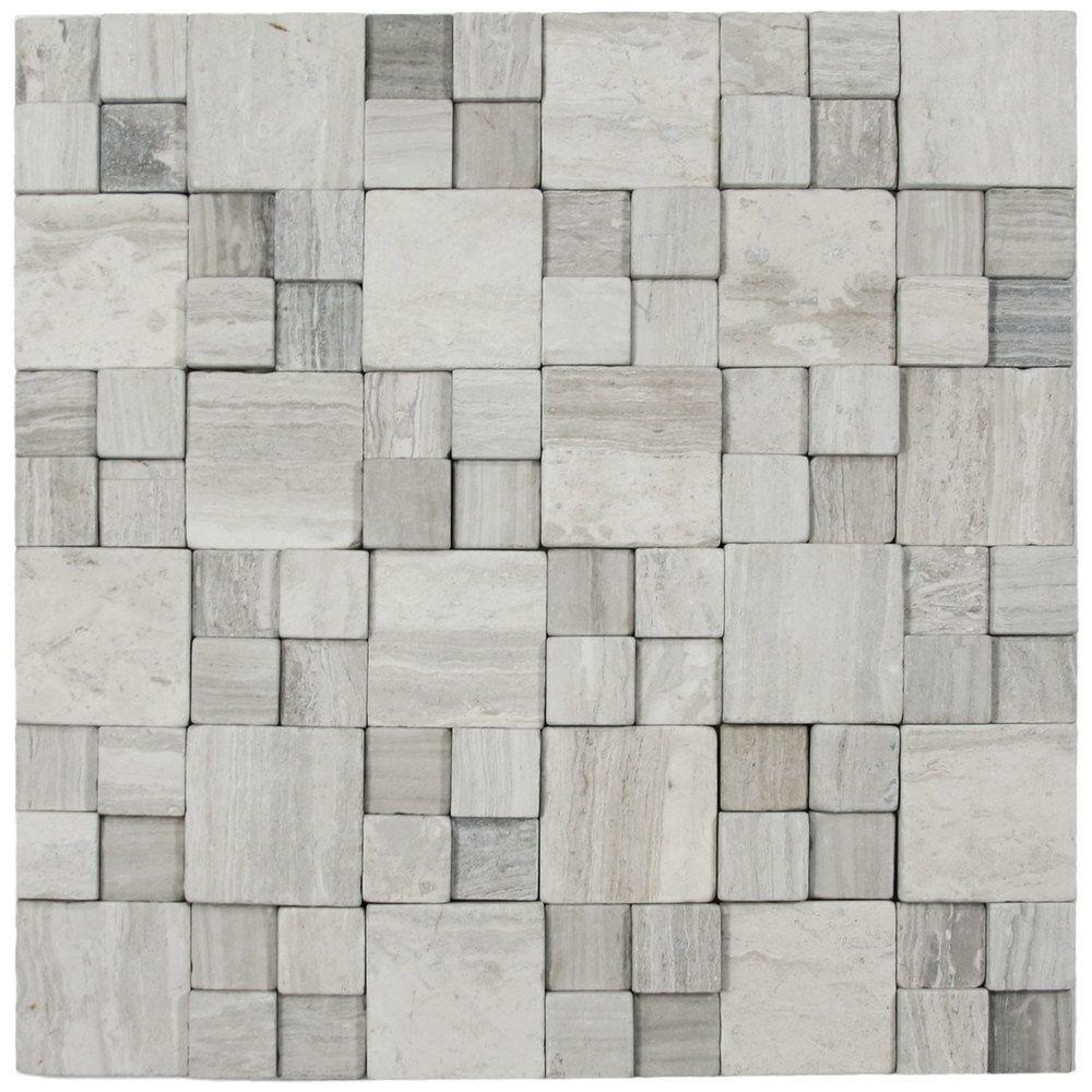 3d Light Grey Blocks Stone Tile Pebble Tile Shop Stone
