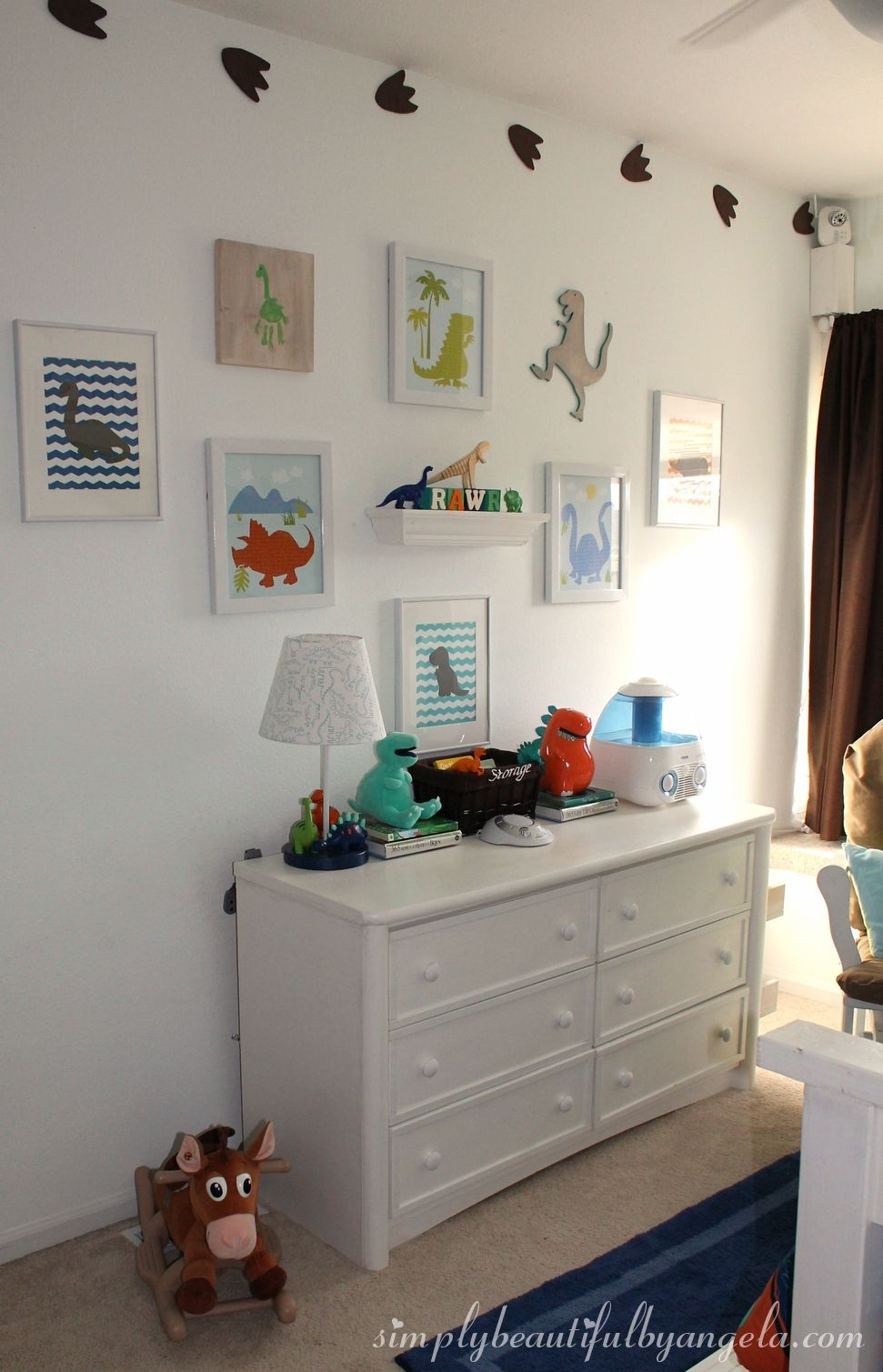 From Junk Room To Beautiful Bedroom The Big Reveal: Tristan's Big Boy Dinosaur Room Reveal