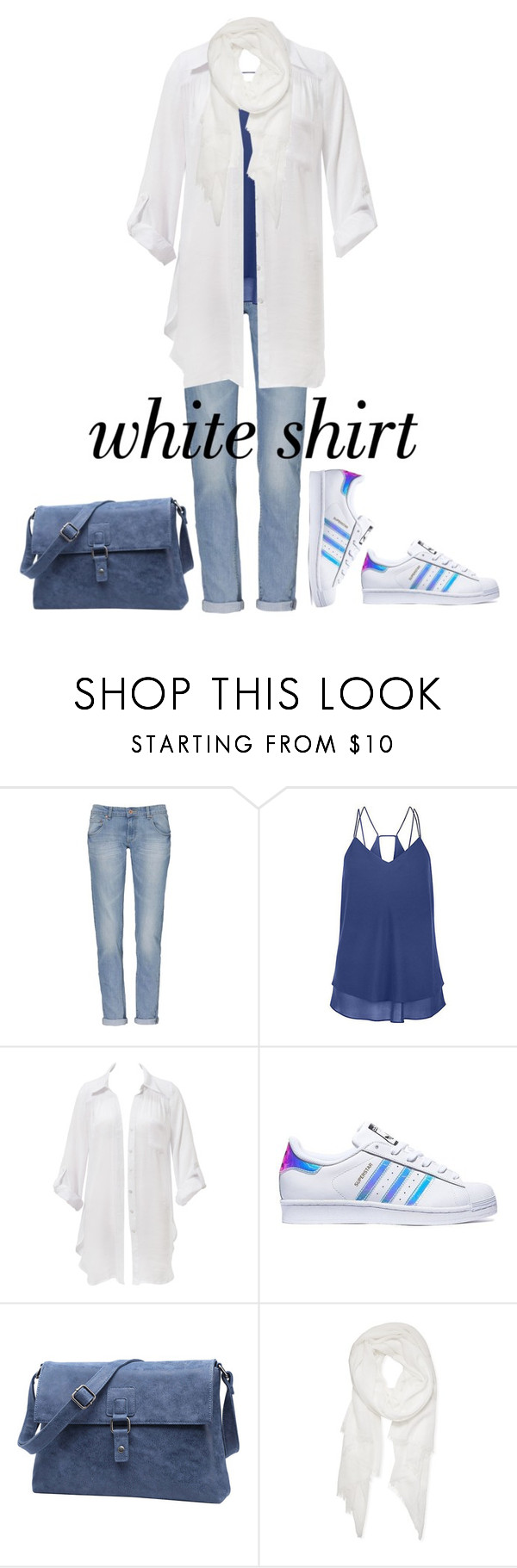 """""""casual in white"""" by geiginana ❤ liked on Polyvore featuring Beauty & The Beach, adidas, Calvin Klein and WardrobeStaples"""