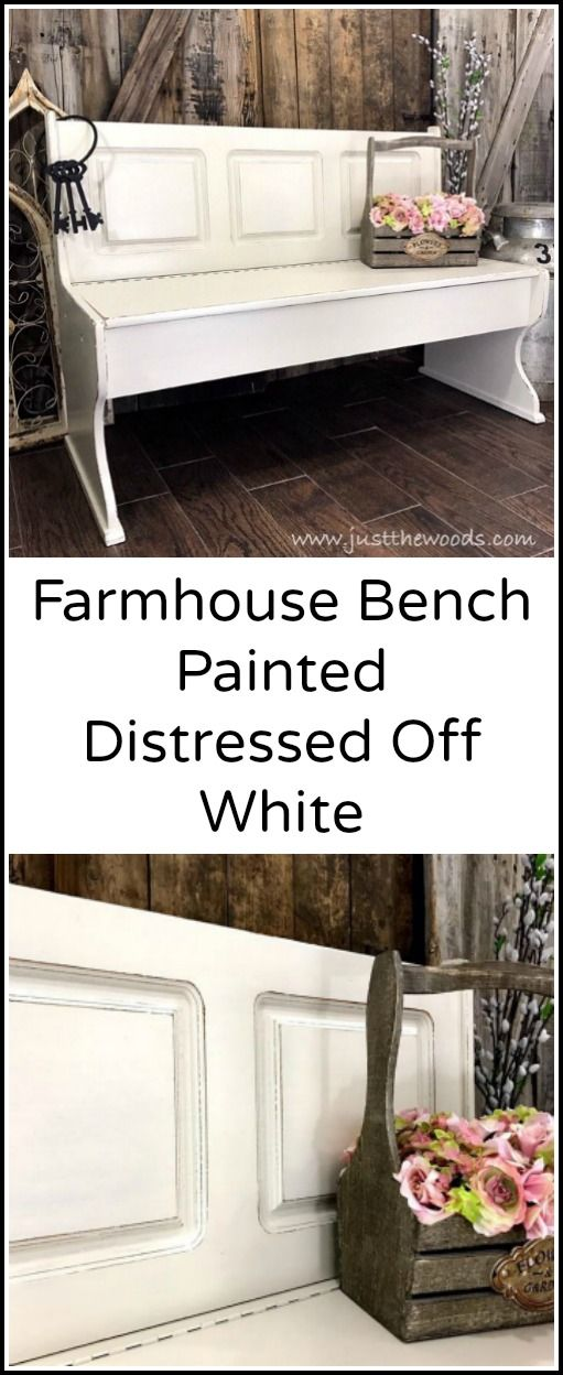 Farmhouse Painted Bench Painted Benches Diy Farmhouse Decor Farmhouse Paint