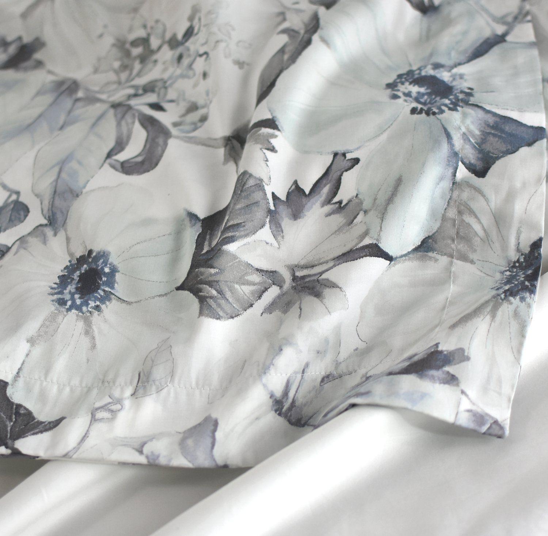 Tahari Home Vintage Botanical Wild Flower Print Duvet Quilt Cover