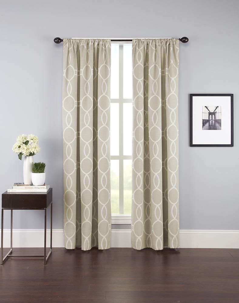 Fulton Interlock Ogee Print Curtain Panel Curtainworks Com