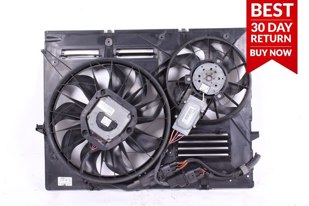 04 06 Porsche Cayenne 955 3 2l Engine Radiator Cooling Dual Fan