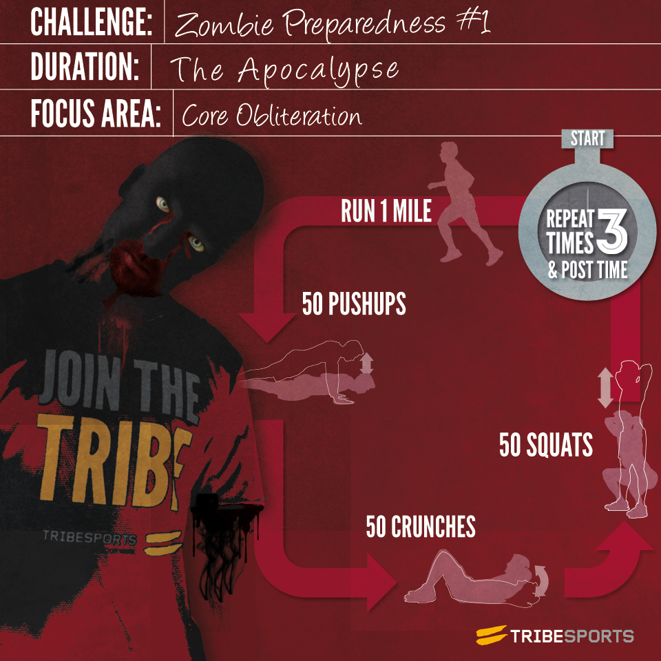 THE ZOMBIES ARE COMING! Are you ready for them? When the brain-munching undead come a-knockin' will you be able to outrun them? This is the first of many zombie apocalypse Challenges