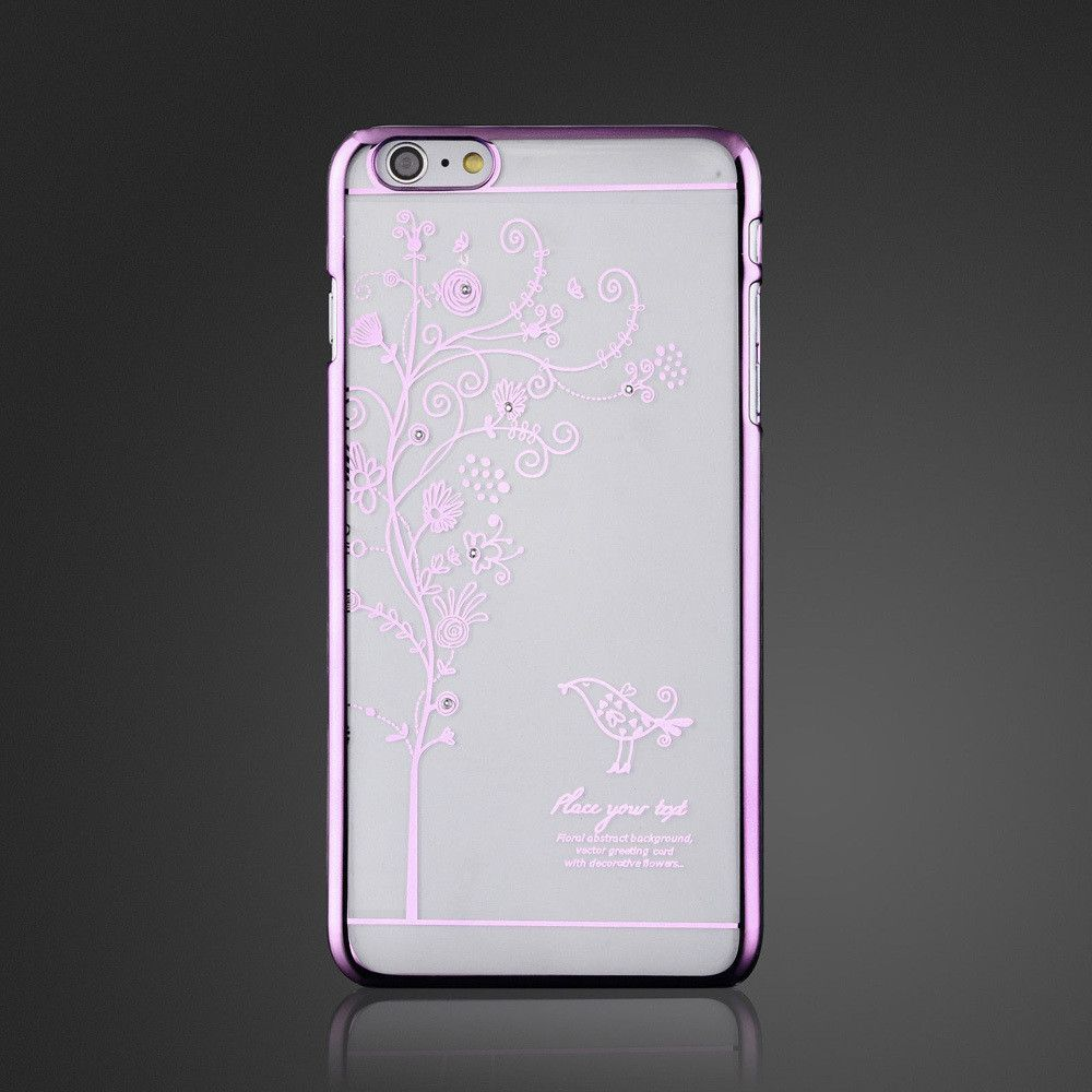 Ultra Slim Luxury Crystal Diamond Bling Transparent Electroplate Back Case Cover For Apple iPhone 5 5s 5g SE Phone Bag