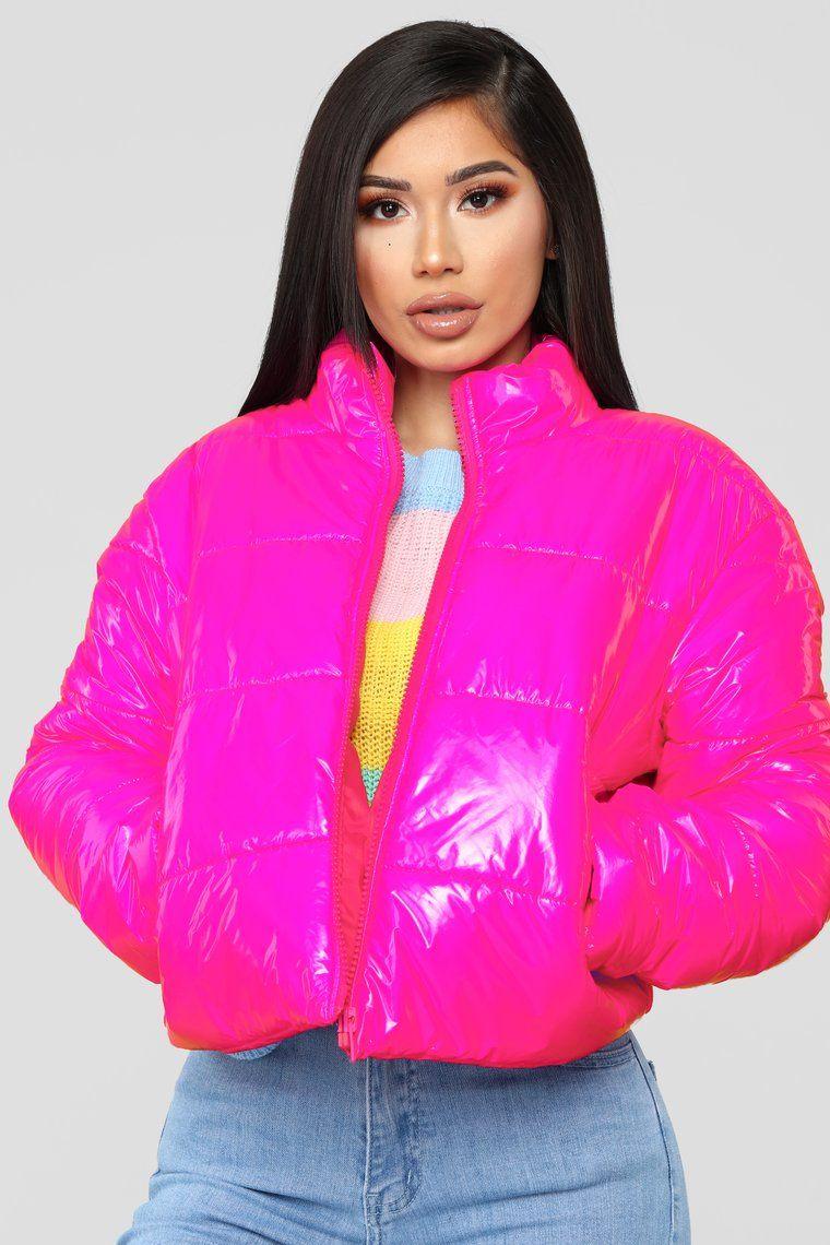 Worst Behavior Puffer Jacket Hot Pink Pink Jacket Winter Pink Jacket Outfit Winter Jacket Outfits [ 1140 x 760 Pixel ]