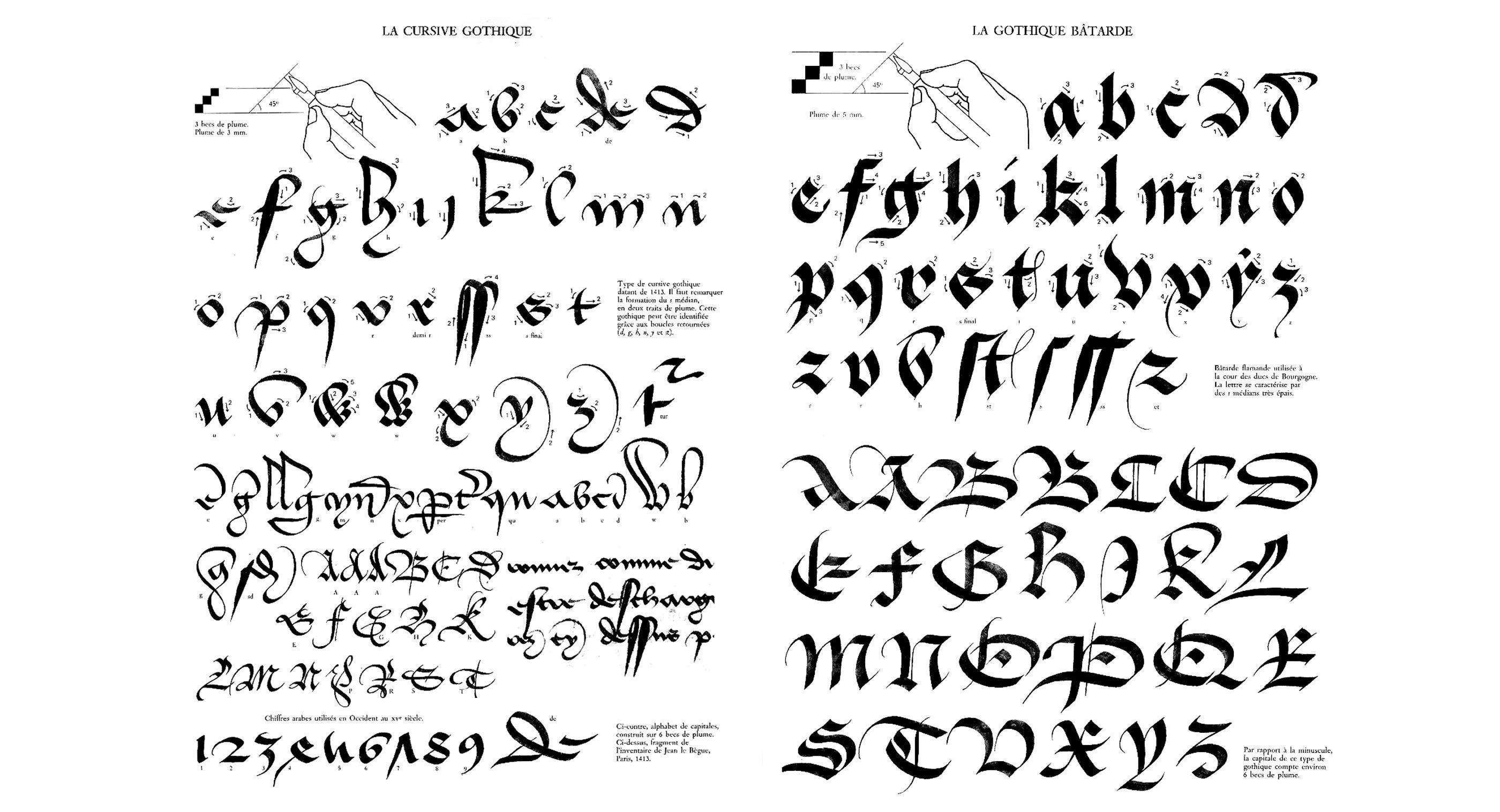 claude-mediavilla-calligraphie-cirsive-gothique-gothique-batarde-nb ...