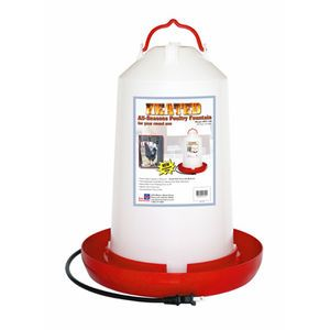 Farm Innovators 3 Gal Heated Plastic Poultry Fountain By Farm Innovators Poultry Chickens Backyard Pet Chickens