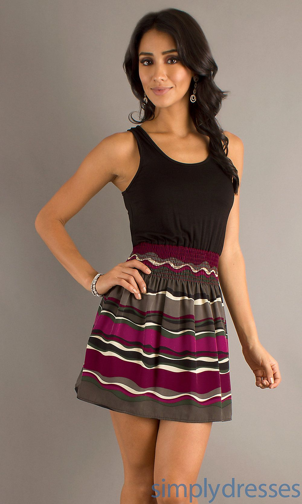 Dress short dress with multi colored skirt simply dresses my