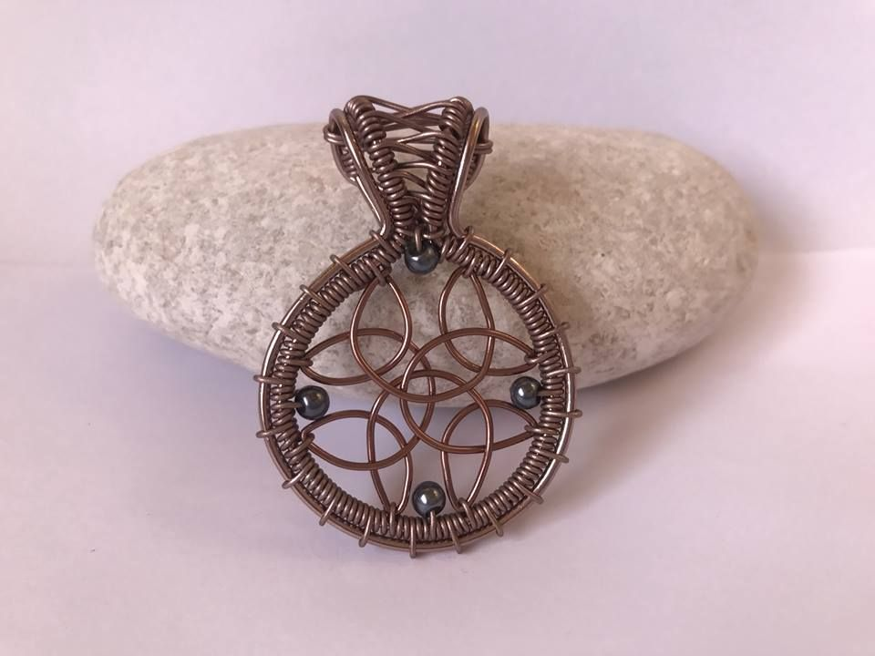 Celtic wire wrapped jewelry pendant bracelet and earring tutorial celtic wire wrapped jewelry pendant bracelet and earring tutorial 5 celtic signs aloadofball Images