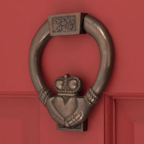Solid Bronze Claddagh Door Knocker