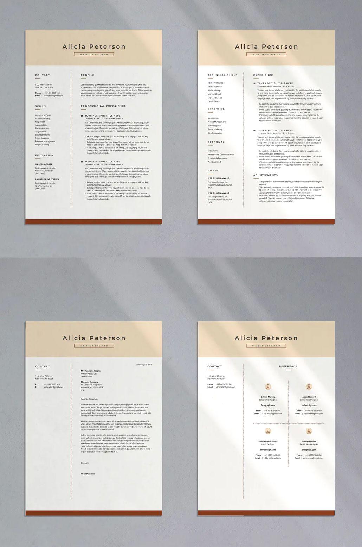 Professional CV Resume 03 by indotitas on Indesign