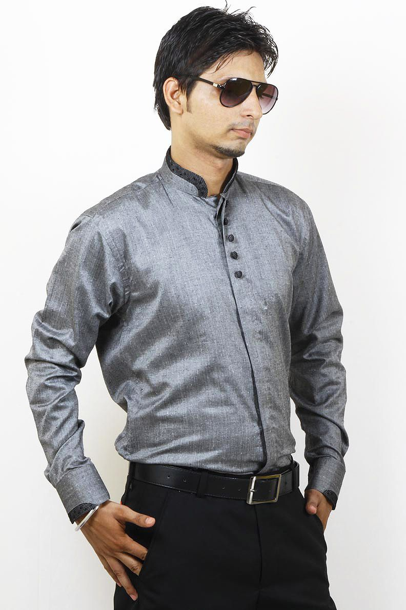 4406d2f1e Buy Grey Party Wear Linen Shirt For Men Online in India | Party Wear ...
