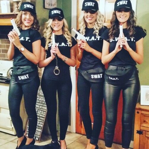 Large Group Halloween Costume Ideas.Fancy Dress Swat Team More Fall Halloween Costumes