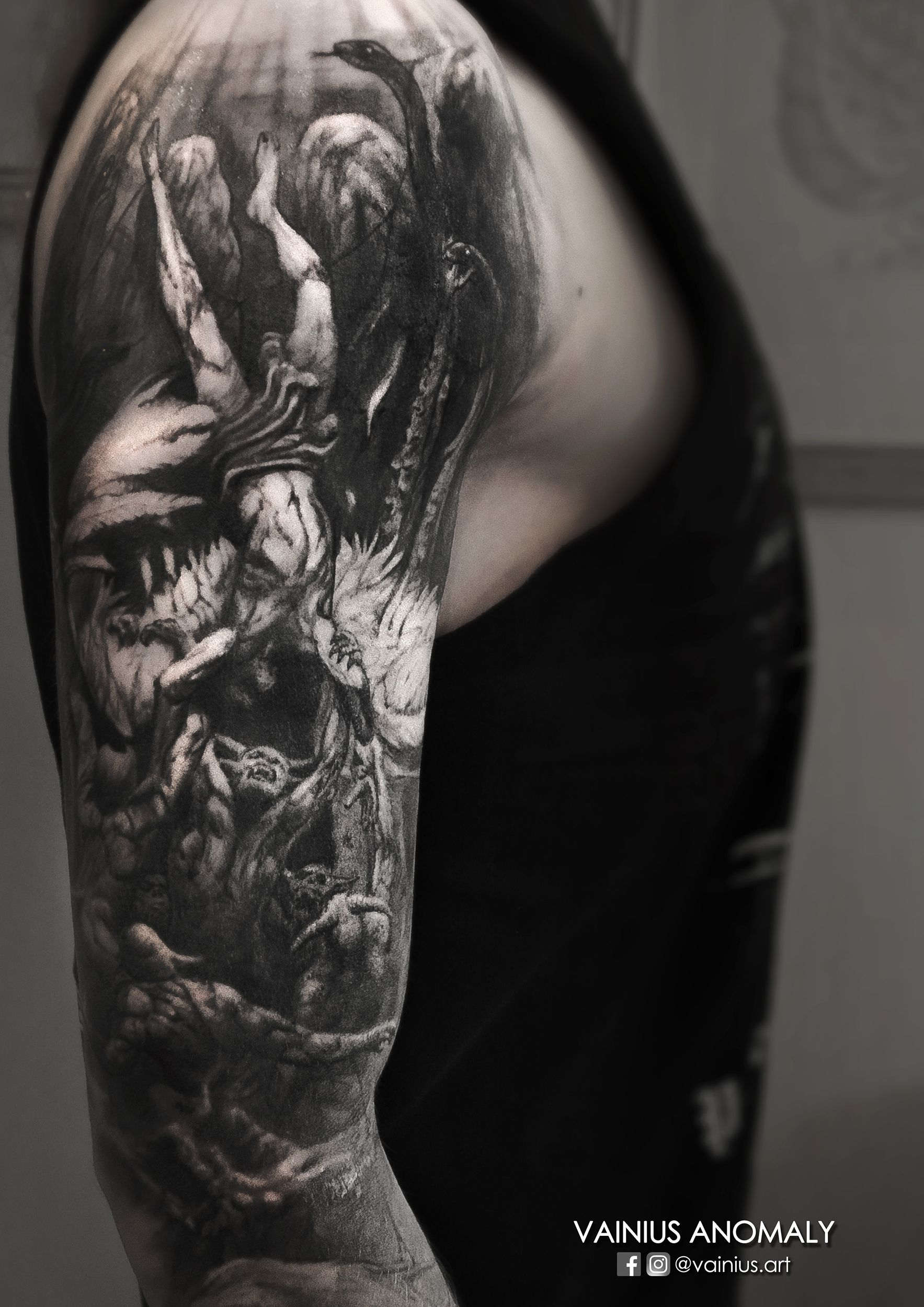 50 Gothic Tattoos For Men – Dark Body Art Design Ideas