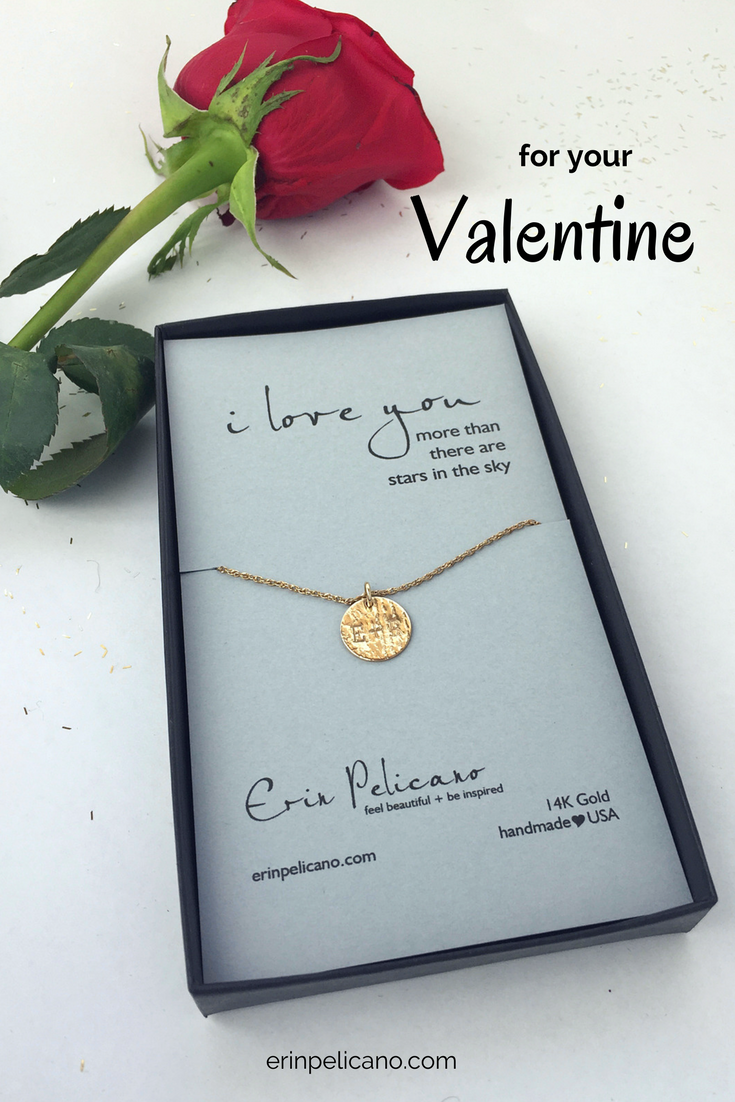 Valentine/'s Necklace in Gold or Silver Tiny Heart Necklace Valentine/'s Gift for Daughter Valentines Day Gift Anniversary Love Gift