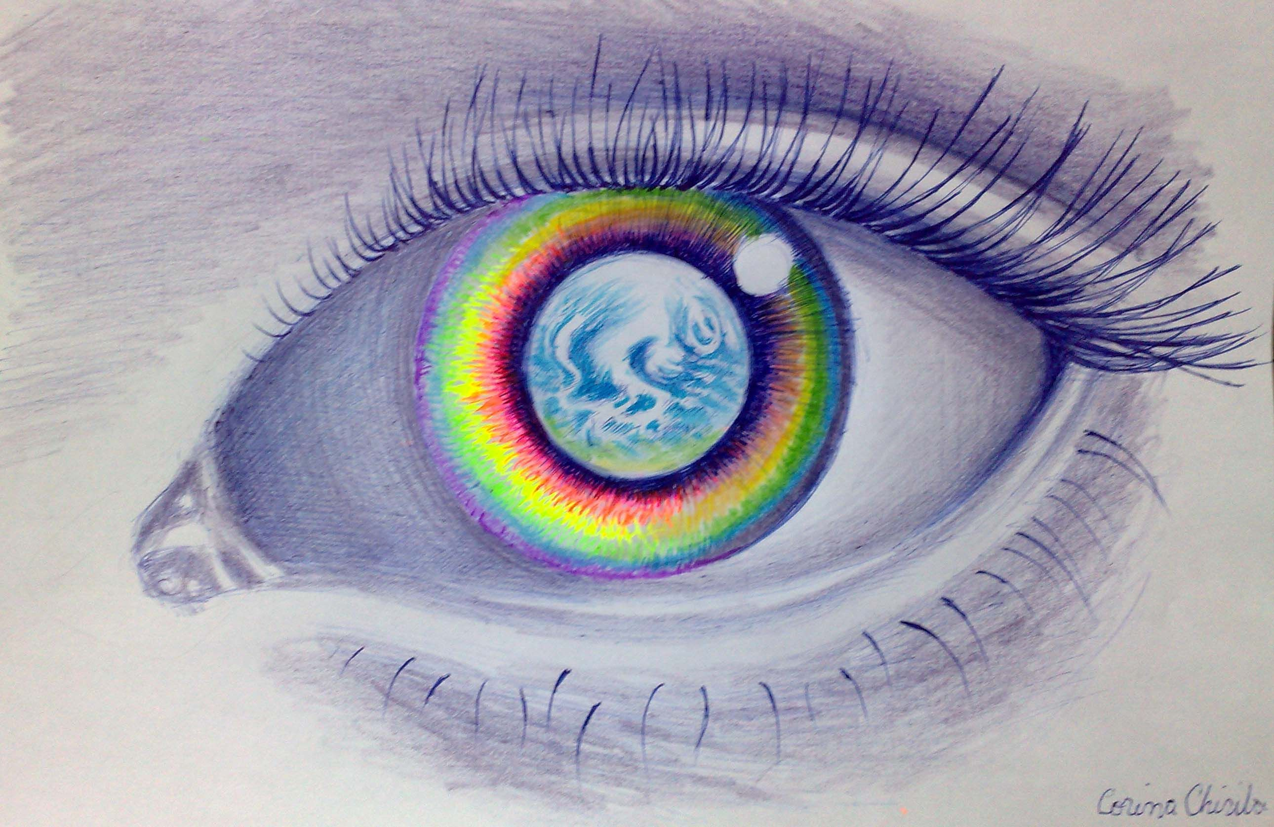 Image result for eye of the earth painting