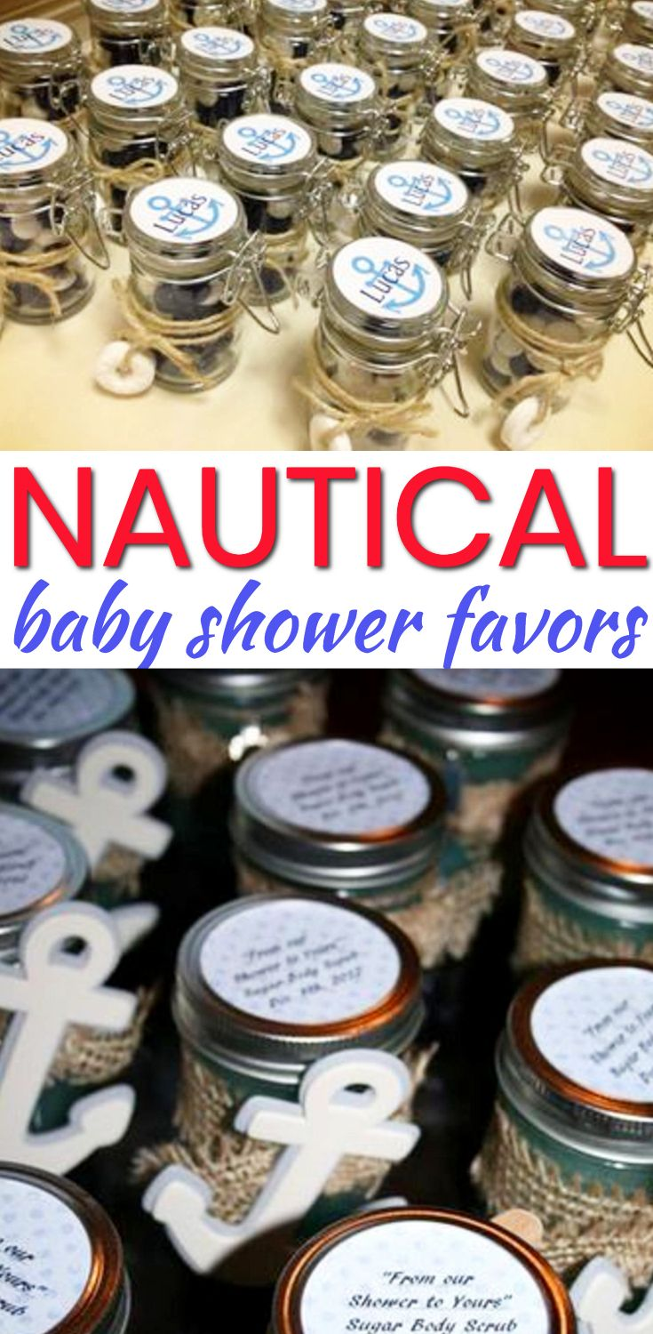 Nautical Baby Shower Favors Best Baby Shower Party Favor Ideas