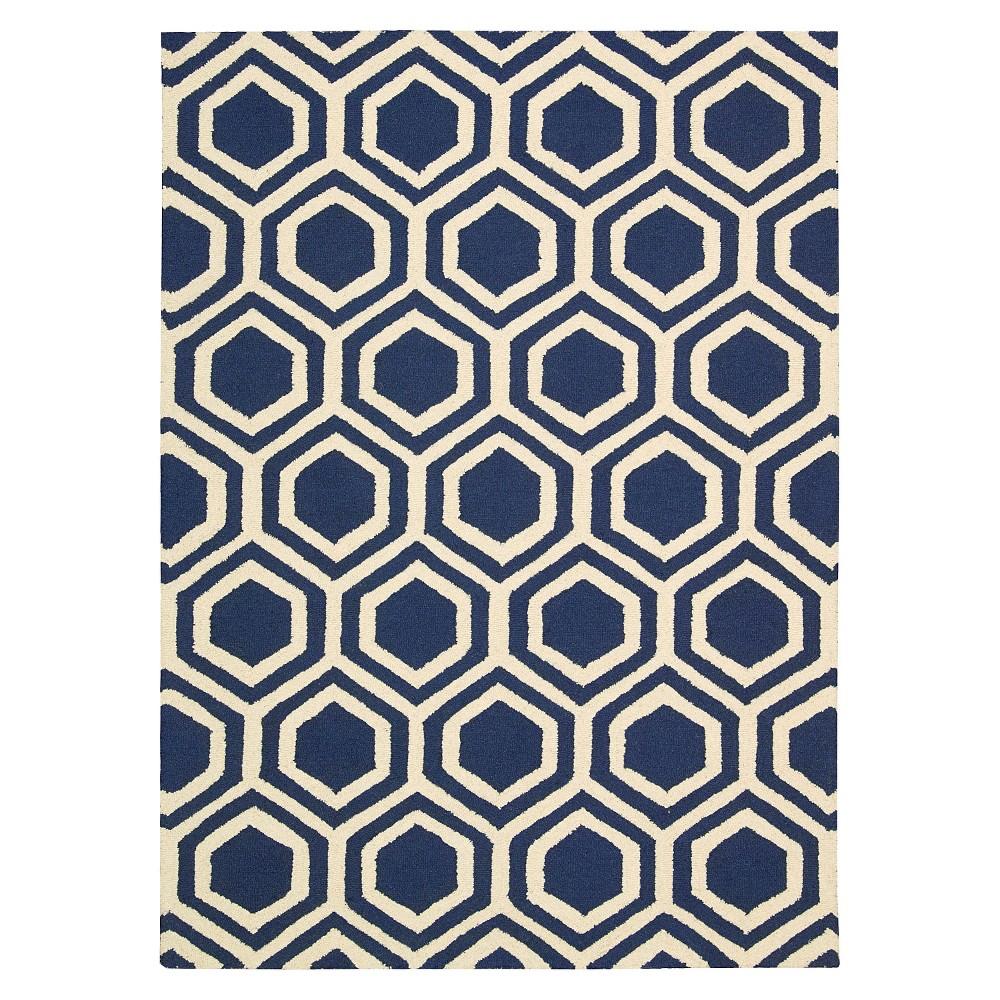 Natural Fiber Rug - Natural/Beige - (2'6x10') - Safavieh, Blue/Ivory