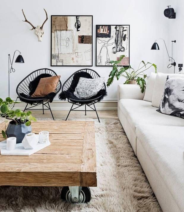16 Rustic Interiors That Make Us Crave Winter Domino Minimalist Living Room Living Room Scandinavian Living Room Designs