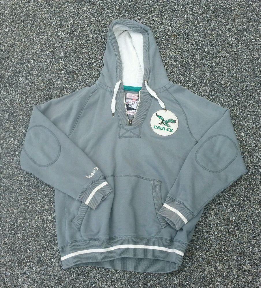Mitchell Ness Throwback Philadelphia Eagles Hoodie Sweatshirt Sz Xl Retro Philadelphia Eagles Hoodie Nfl Sweatshirts Sweatshirts Hoodie [ 1000 x 904 Pixel ]