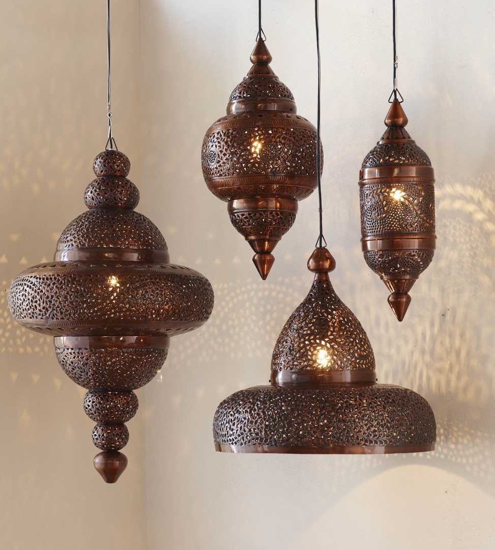 moroccan style lighting fixtures. moroccan hanging lamp collection antique copper style lighting fixtures m