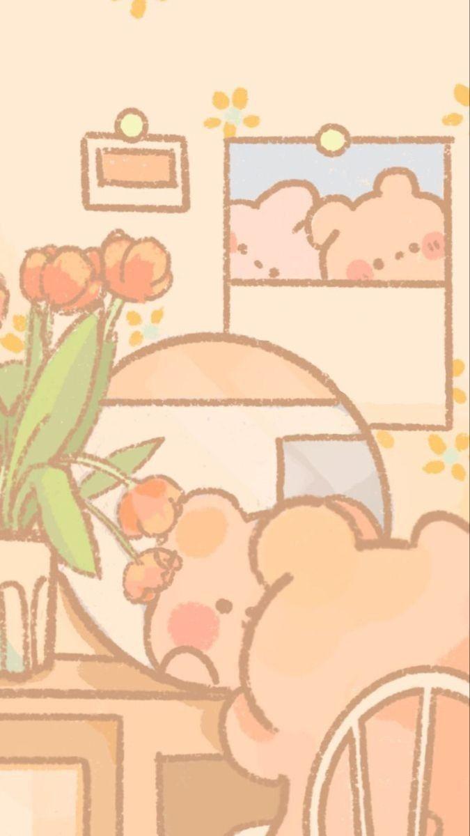 Pink Peach 🍓💝 Di 2021   Wallpaper Kartun, Kartu Lucu, Seni
