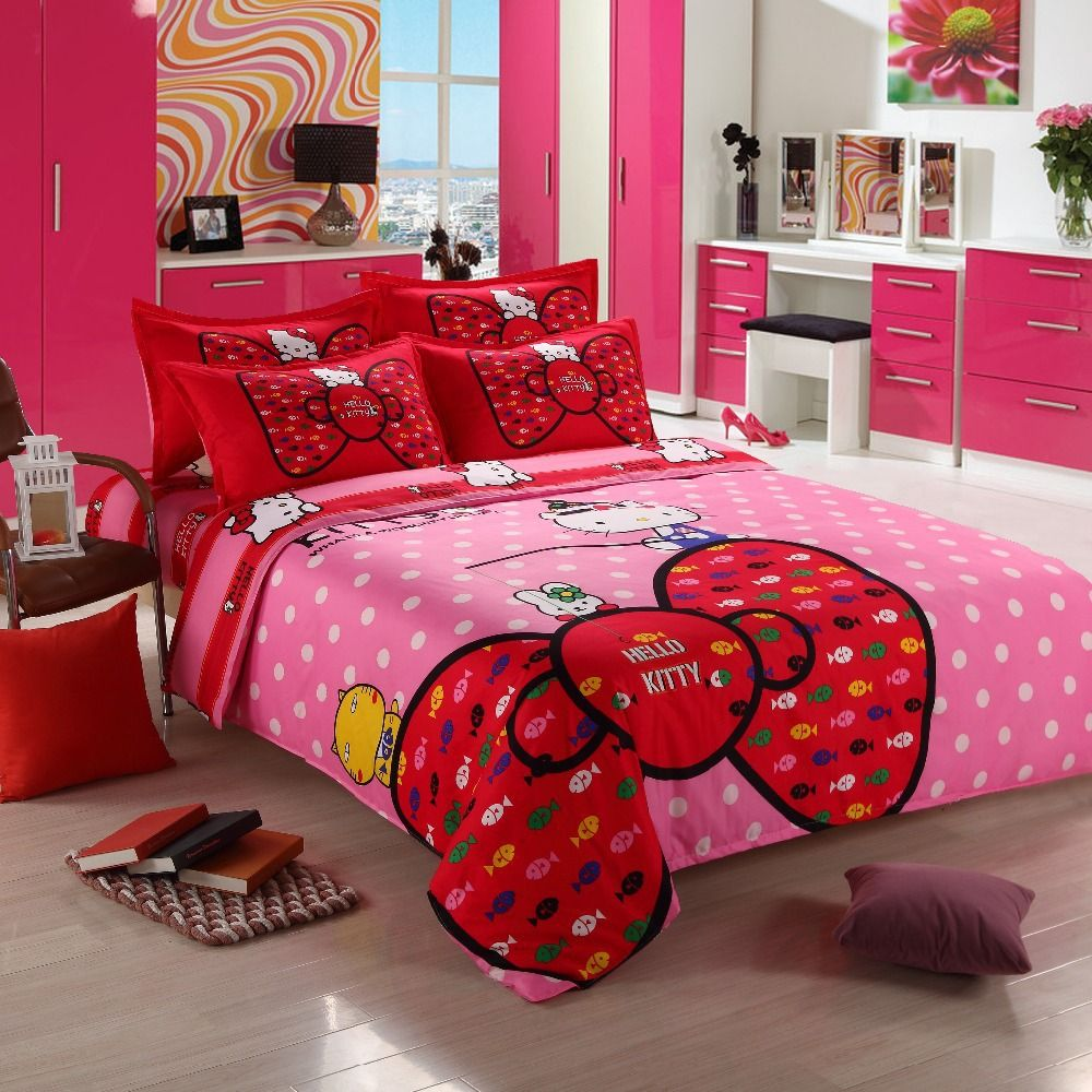 Hello Kitty Queen Bedding Set Hello Kitty Bedroom Furniture