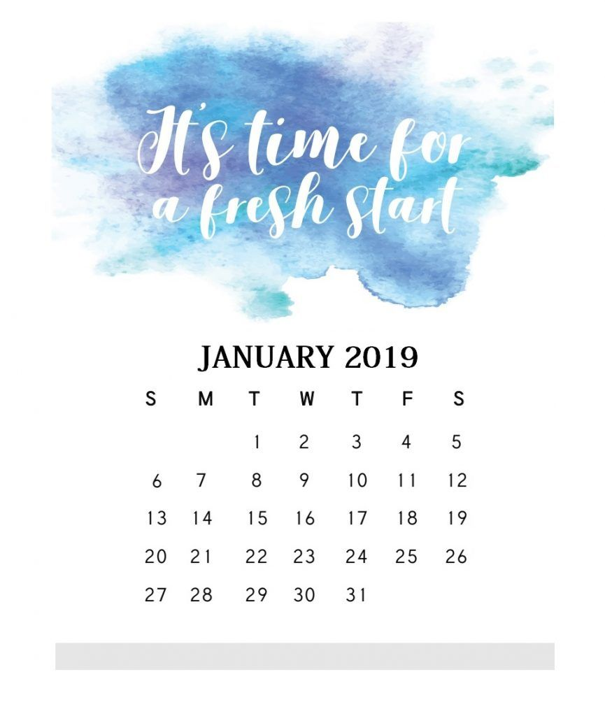 Inspiring January 2019 Calendar Inspirational January 2019 Quotes Calendar | MaxCalendars
