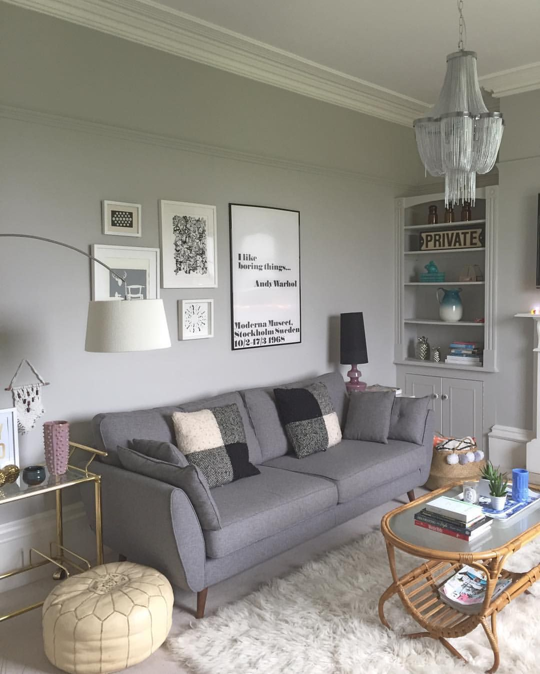 one sofa living room ideas pink curtains 20 remarkable and inspiring grey beautiful home choosing a color theme for the is of first steps when redecorating