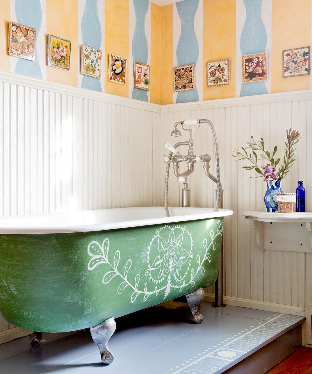 Whimsically Painted Claw Foot Tub Rikkisnyder Clawfoot Tub
