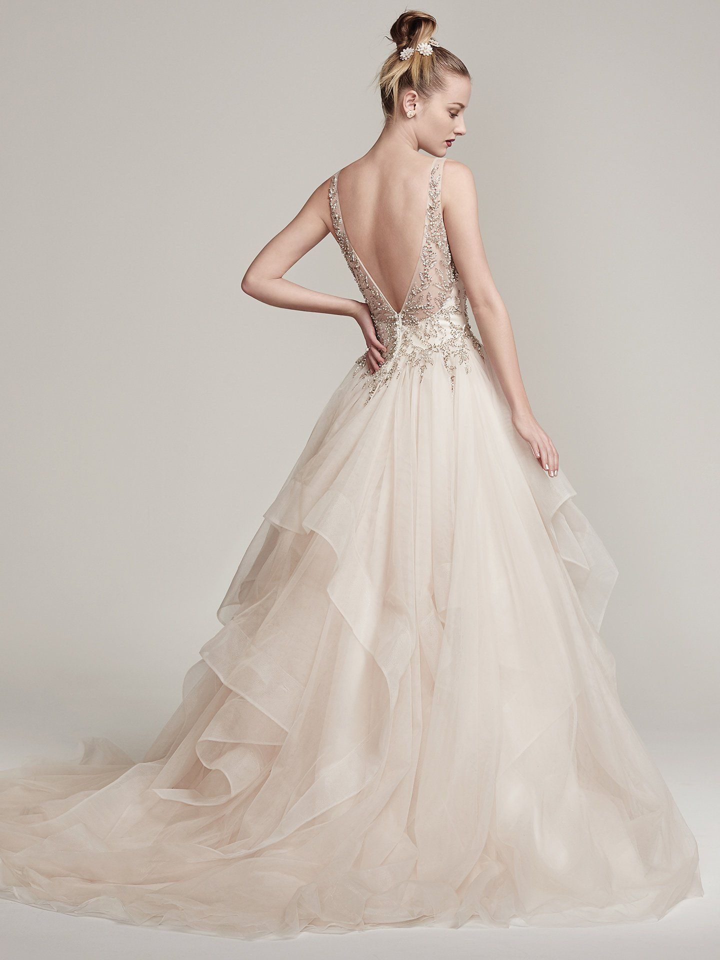 b18ee5f0b3a Amélie by  SotteroandMidgley Dione organza creates the dramatic Amelie ball  gown with horsehair layered skirt